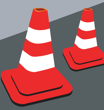 Divider on the road Vector