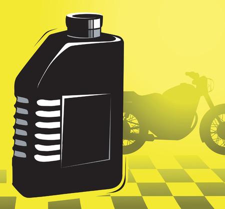 oil can: Engine oil bottle Illustration