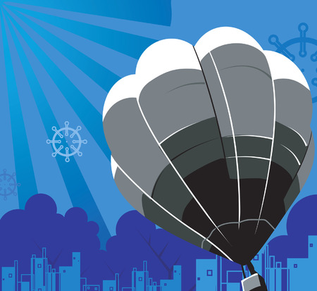 untroubled: Hot air balloon Illustration