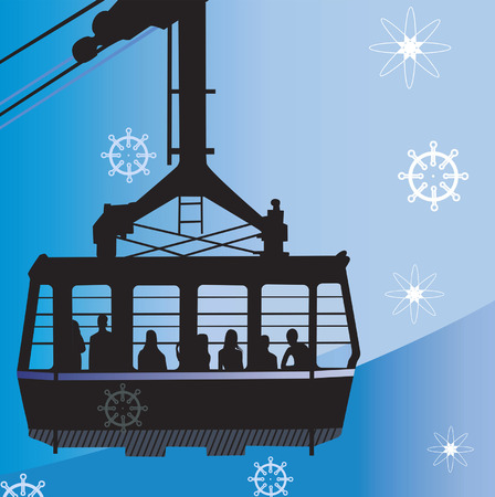 overhead: Silhouette of an Overhead Cable Car,