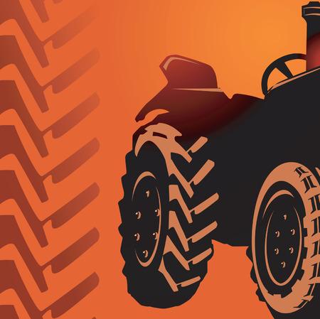 motricit�: Silhouette d'un tracteur