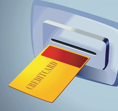 inserting: Inserting credit card to take money
