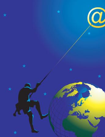 anywhere: Reach anywhere through mail Illustration