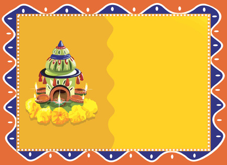 Flower decoration for pooja  Vector