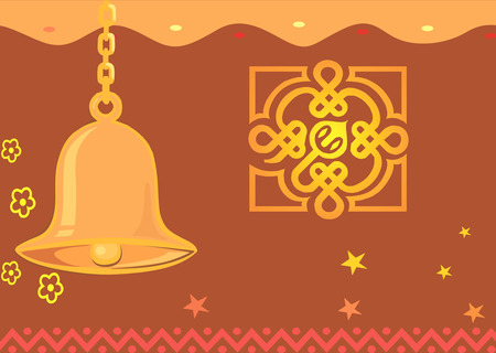 indian light: Temple bell Illustration