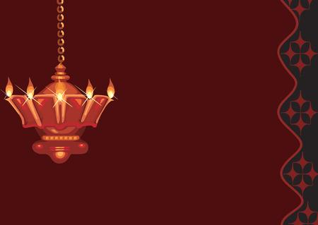 Opknoping olielamp gevonden in hindoeïstische tempel