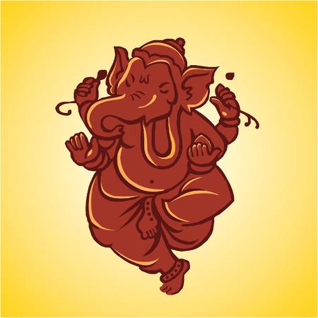 hinduismo: Gnash, el dios hind� de  Vectores