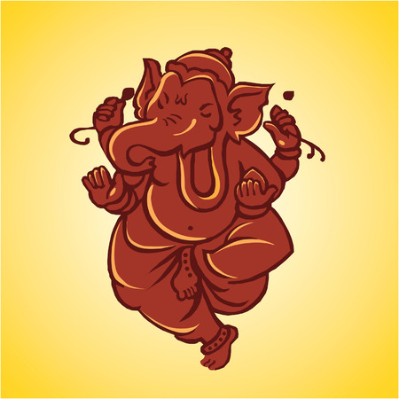 mural: Gnash ,god of Hindu  Illustration
