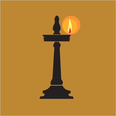 oil lamp: Oil lamp found in temple and home of Hindus