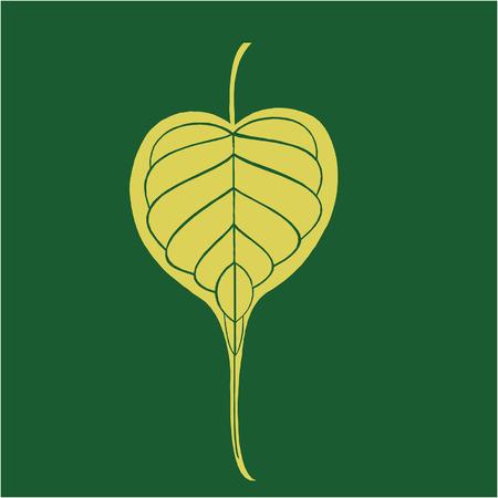banyan: Banyan leaf  Illustration