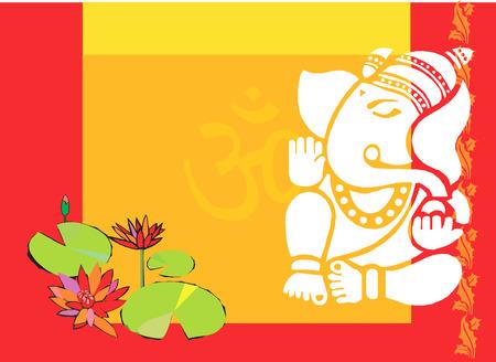 Lotus and ganesha, Illustration