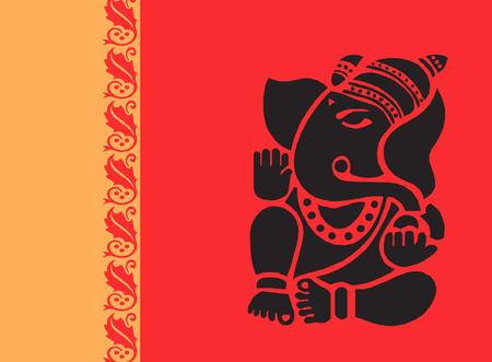 hinduism: ganesha Illustration