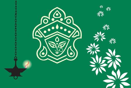 Uitnodiging-kaart met een beeld van koning en olie lamp  Vector Illustratie