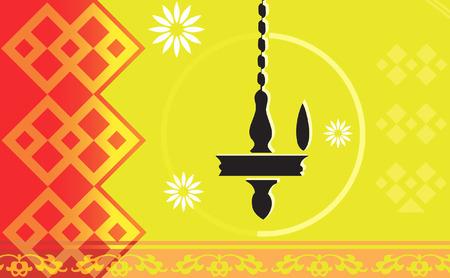 Hanging oil lamp  Illustration