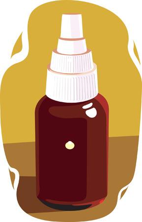 ascorbic: Tonic botella para la atenci�n de la salud de enfermedad  Vectores