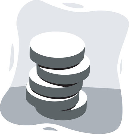 arranged: Tablets arranged like a pillar Illustration