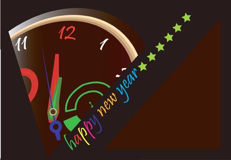 Zeroth hora en el reloj da la bienvenida a nuevos años  Foto de archivo - 1730127