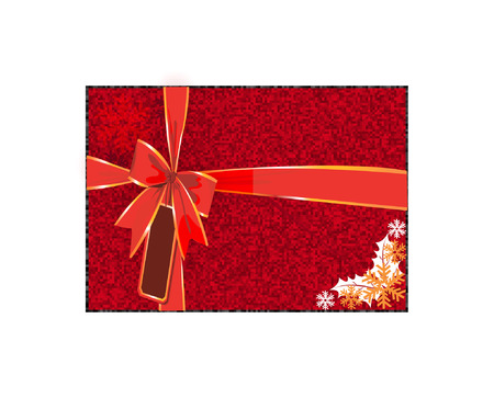 celebratory: Gift box tied with red ribbon Illustration