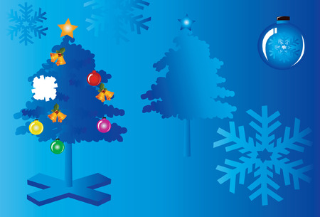 public celebratory event: Christmas tree with decorations