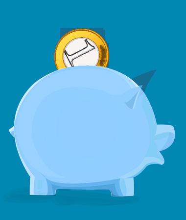 돼지 저금통에 동전