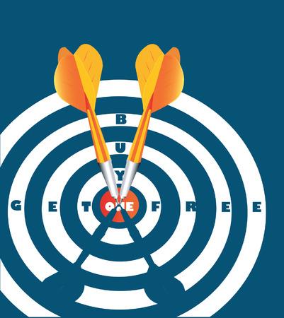 acute angle: Blanco con la flecha en el canter. Vectores