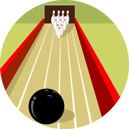 straight pin: Bowling Strike