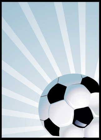 �back ground�: Football with bright light beams on back ground