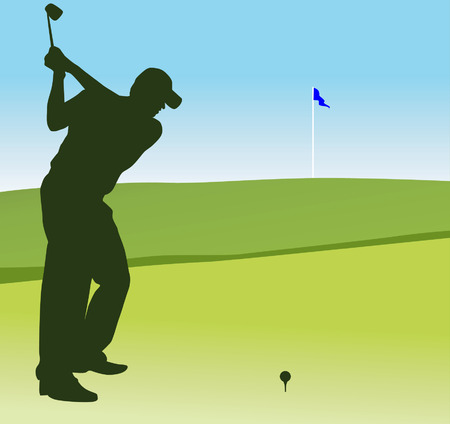 organised: Silhouette of man playing golf