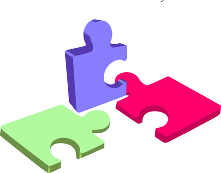 multi coloured: Multi coloured Puzzle pieces