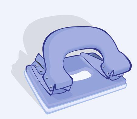 hole puncher: Blue Paper Puncher Illustration