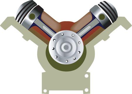 pistones: Motor de Pistones  Vectores