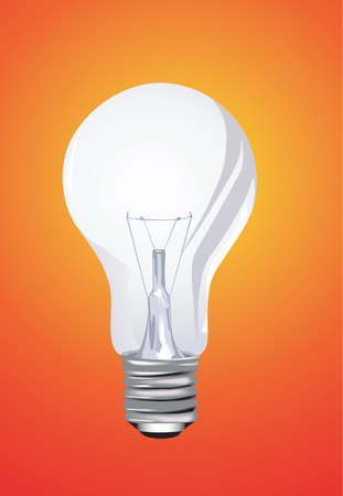 filament: Bulb on red back ground Illustration