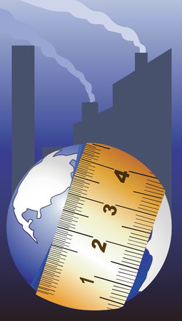 centimetre: Measuring the globe with tape Illustration