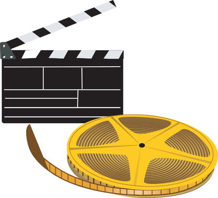 screenplay: Clapboard with film roll