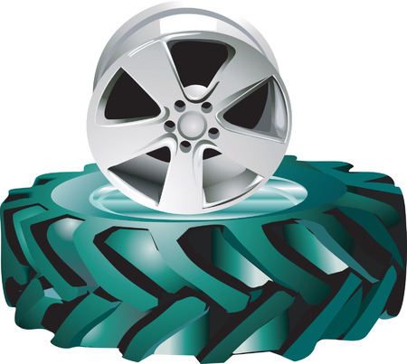 alloy: Alloy wheel and tyre,