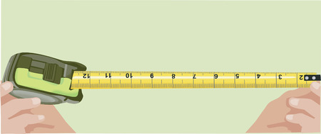 estimate: Pulling out the measuring tape Illustration