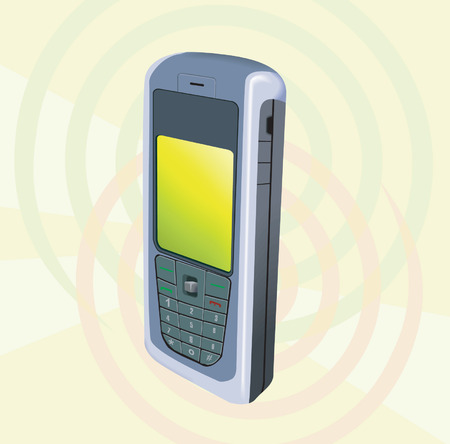 cordless phone: Mobile Phone with display light glowed