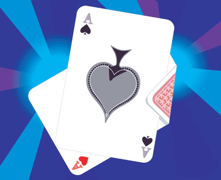 Ace of spade and hearts Stock Vector - 1768574