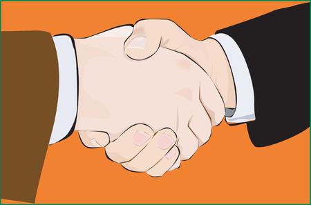 dandose la mano: Apret�n de manos Vectores