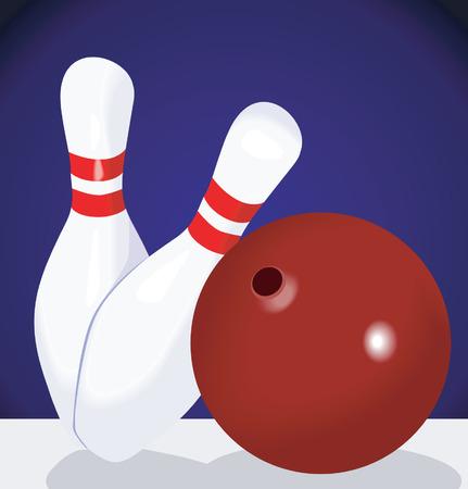 Bowling ball and pins Stock Vector - 1768395