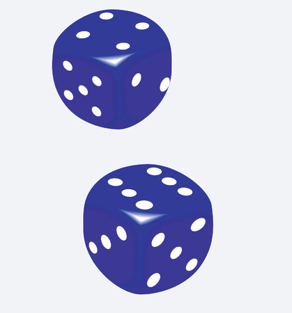 Two Blue dice  Vector