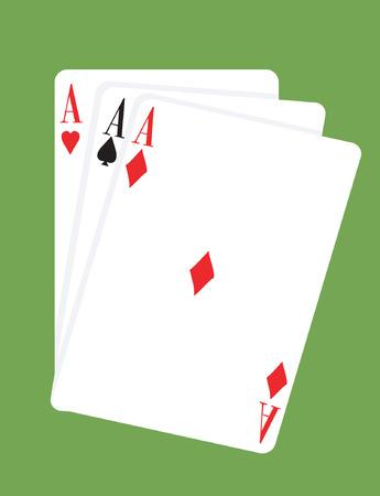 Three ace card  Stock Vector - 1768188