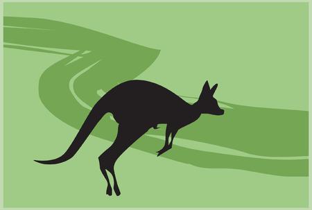 kangaroo jumping Vector
