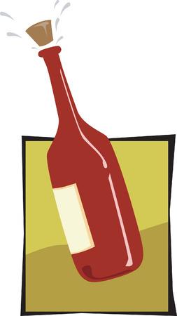 analogue: A champagne bottle  Illustration