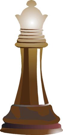 Queen- a coin piece of chess Stock Vector - 1789650