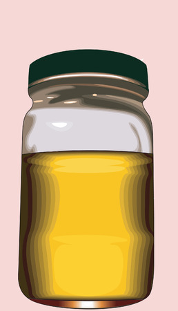 golden hair: A tin filled with oil  Illustration