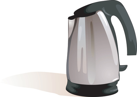 A sliver black flask in a White background Vector
