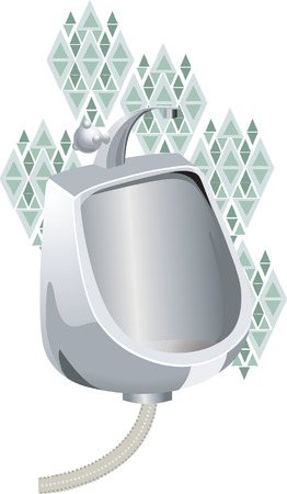 urinal: Toilet with urinal system Illustration
