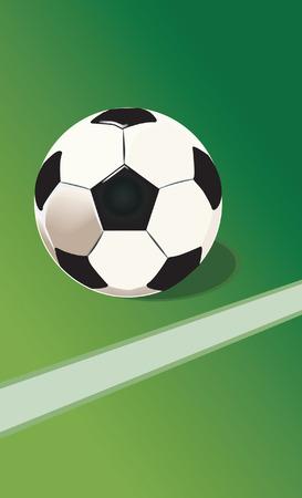 futball: Football on ground line