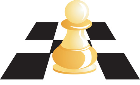 White pawn in a chess board Stock Vector - 1969552